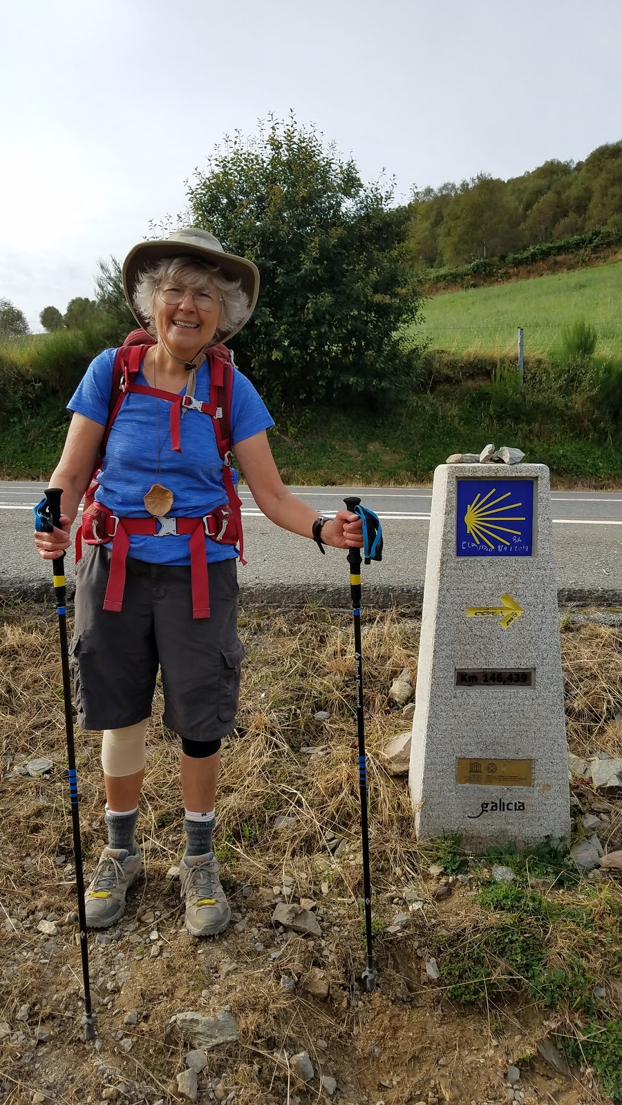 Meet Danny from New Jersey. This young lady is 70 and walked from Saint-Jean-Pied-de-Port, France, nearly 475 miles before this photo was taken.