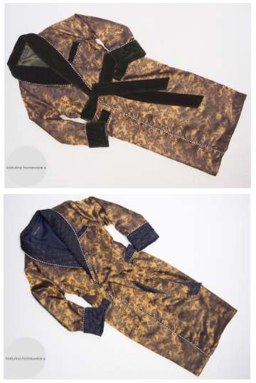 mens paisley silk dressing gowns