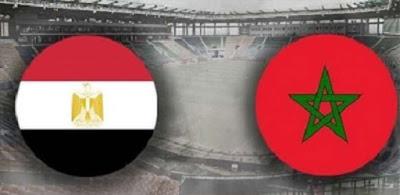مباراة مصر والمغرب