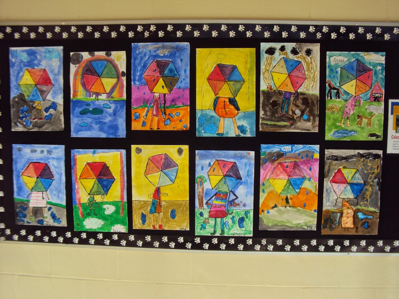 Mrs Elder S World Of Art First Grade Color Wheel Umbrellas