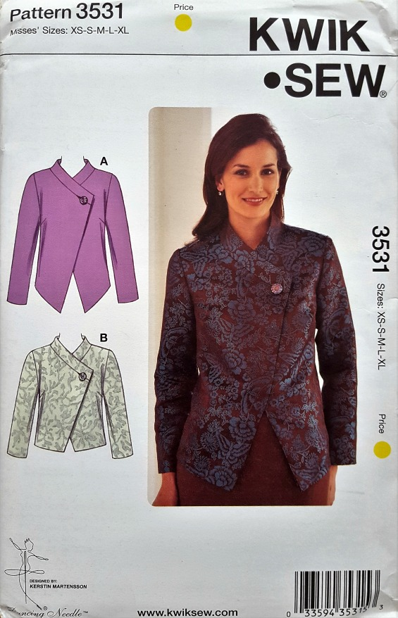 Lower Your Presser Foot Kwik Sew 3531 My New Favourite Tailored Jacket