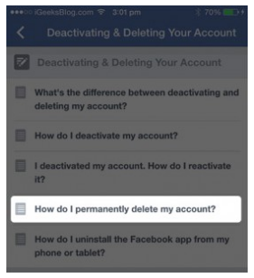 How to Delete Facebook Page on Mobile