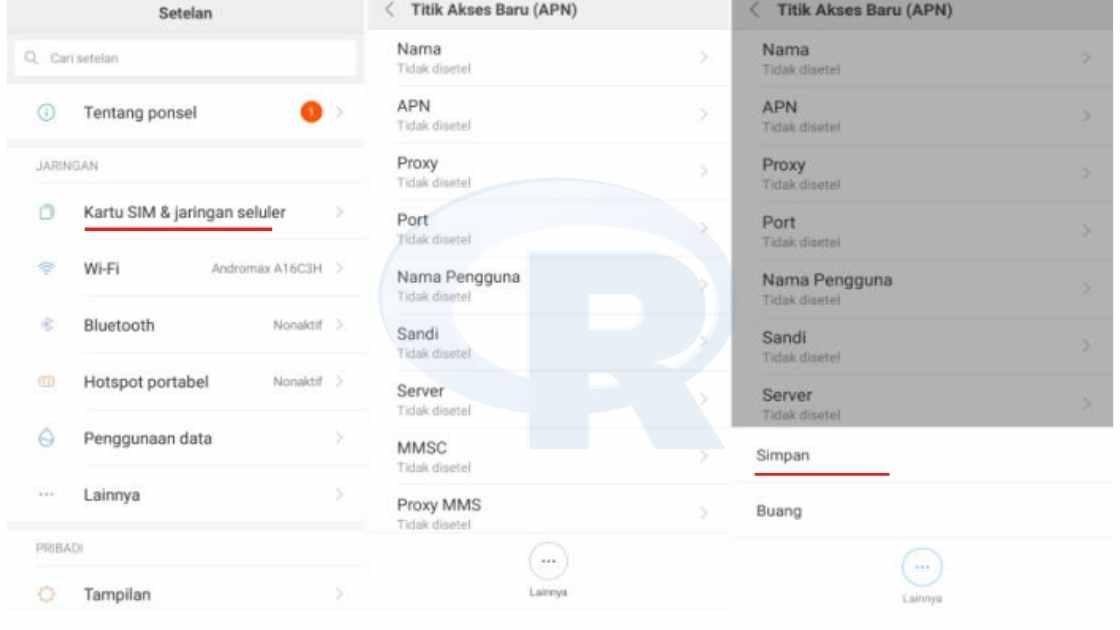 Cara Setting APN Telkomsel 4g di Xiaomi