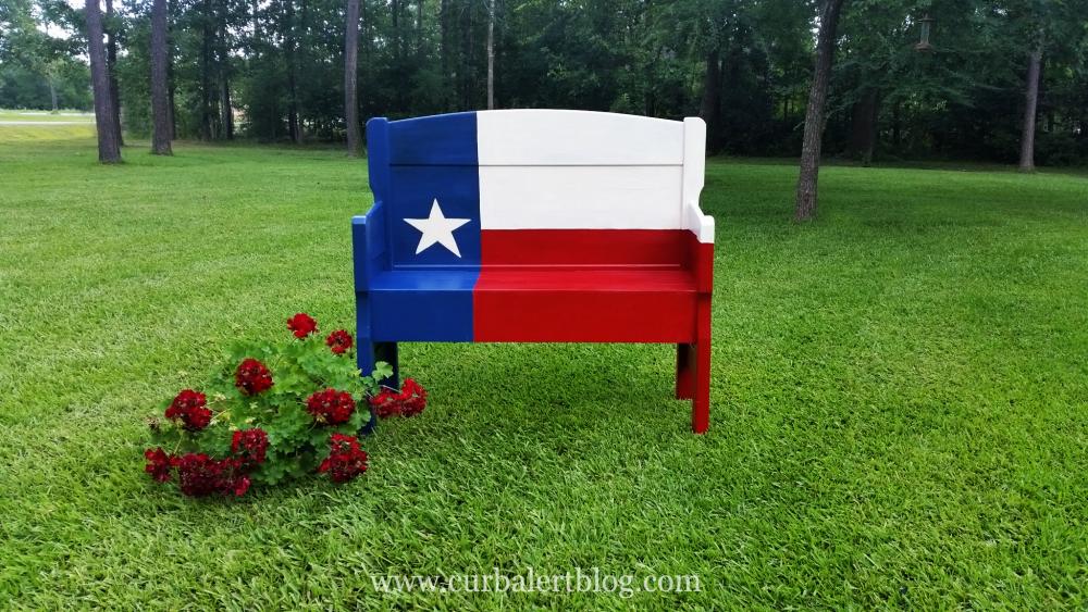 Curb Alert Texas Star Headboard Bench