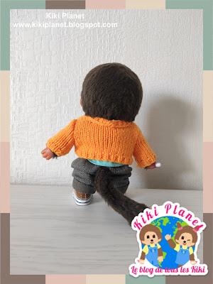 kiki Monchhichi tricot pull fait main handmade