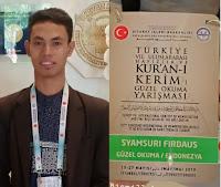 Qori Asal Bima, Syamsurih Firdaus Raih Juara 1 MTQ Internasional ke-7 di Turkey