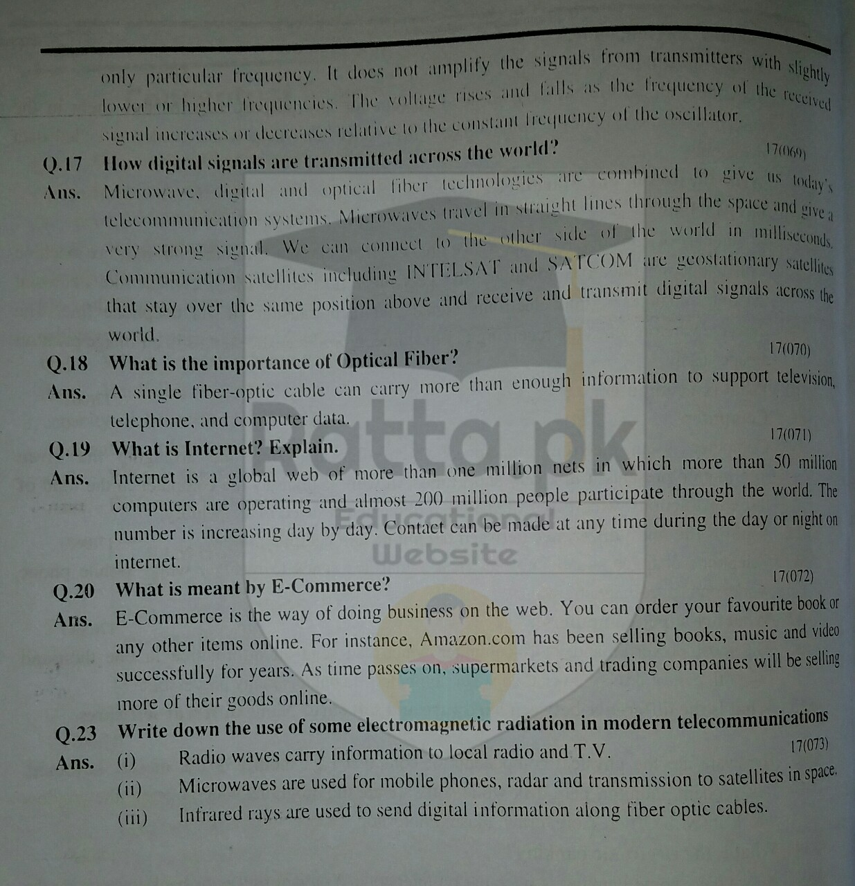 10th Physics Chapter 17 Questions 3