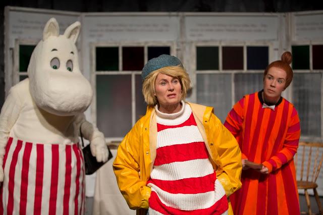 Moomin in Theatre in Oulu Finland