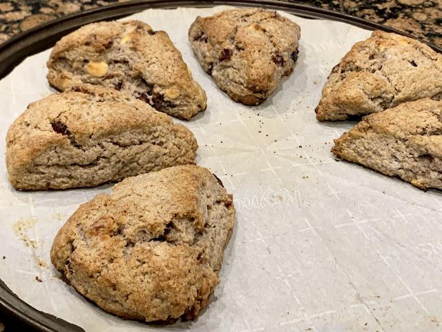 Finger Miller & Almond Scones with Craisins & White Baking Chips