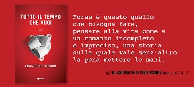 Tutto il tempo che vuoi, di Francesco Gungui, incipit - Banner