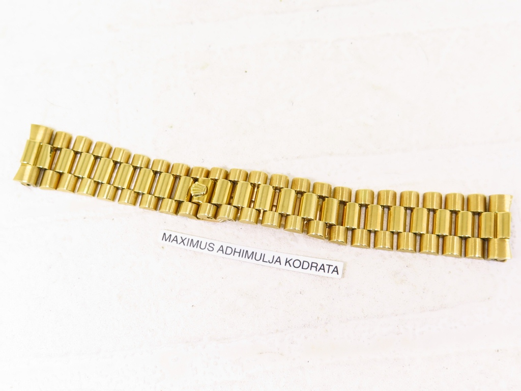 ROLEX 1803 ALL GOLD BRACELET 8 + 13 LINKS