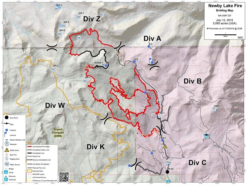 Northwest Interagency Coordination Center 7 12 2015 Newby Lake Fire Map