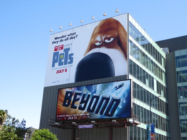 Secret Life of Pets giant movie billboard