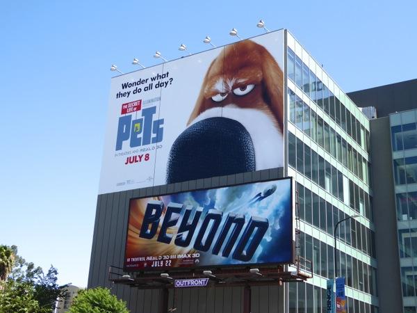 Secret Life of Pets giant movie billboard