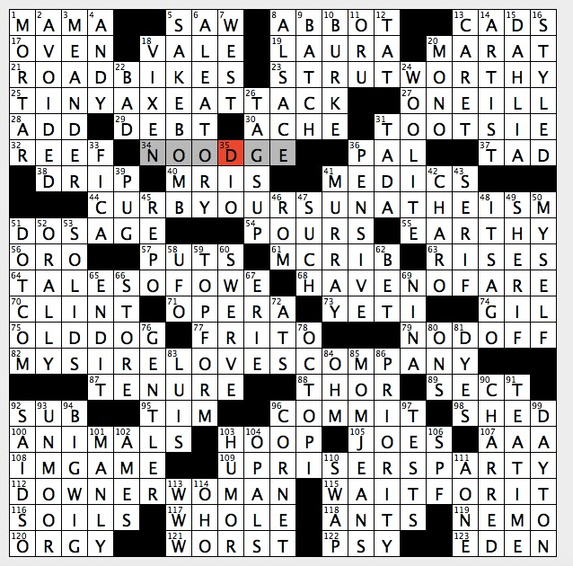 Rex parker does the nyt crossword puzzle flower named for swedish sunday february 26 2017 ccuart Gallery