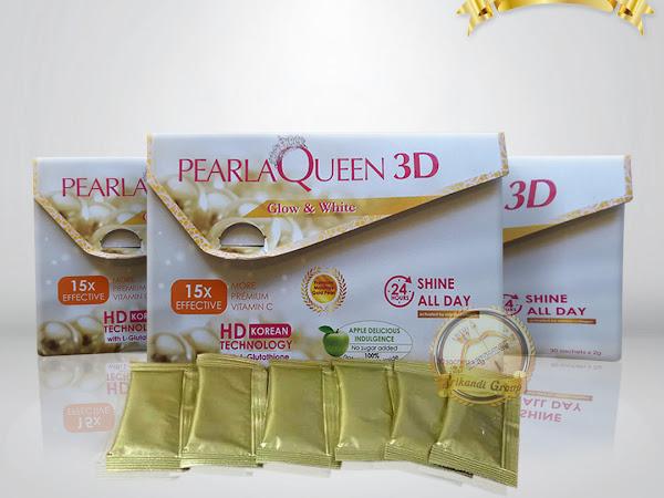 Pearlaqueen 3D DMS360 Serbuk Mutiara Kulit Cerah Merona Selembut Bayi
