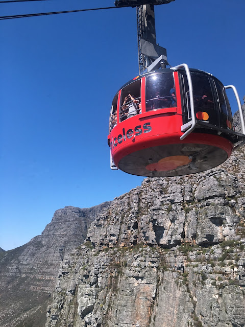 cable car at Table Mountain, Cape Town, South Africa