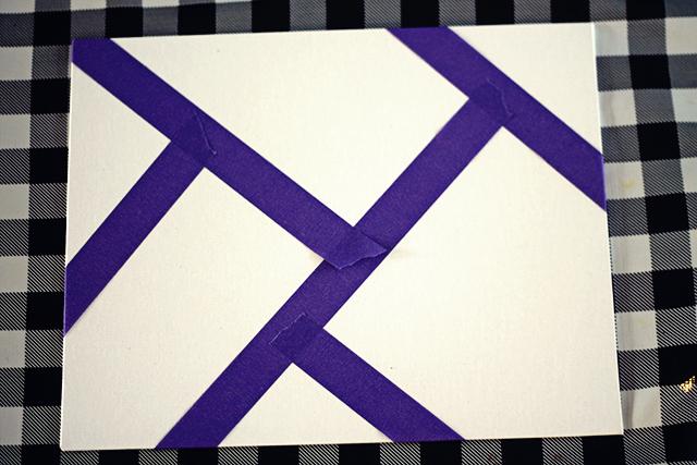 canvas voorbereiden paars afplaktape