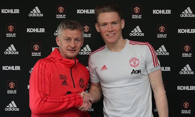 Man United Midfielder Scott McTominay signs new 5 year deal (photos)