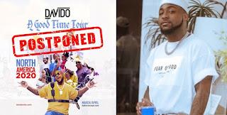 Davido postpones 'A Good Time' tour over coronavirus