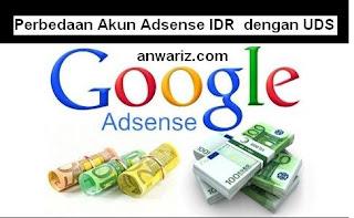 perbedaan akun adsense rupiah dengan adsense dollar