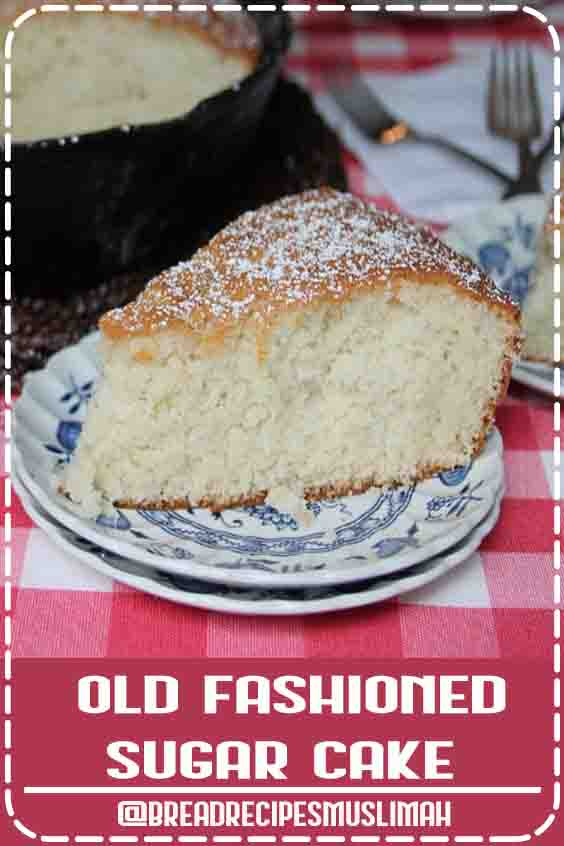 Old Fashioned Sugar Cake – I love how simple this is and would go great with any flavor of ice cream! #sweet #bread  #recipes #easy #dessert