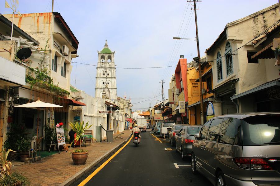 Jonker Street in Malacca Malaysia