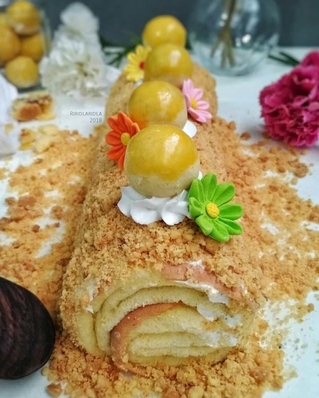 Resep Roll Cake - Nastar Crumble Roll Cake