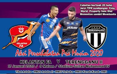 Live Streaming Kelantan vs Terengganu II Friendly Match 17.1.2020