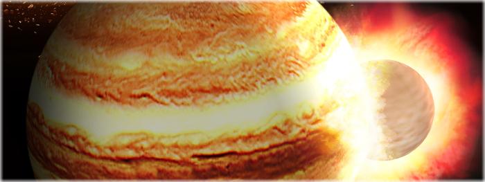 jupiter sofreu colisão catastrófica com planeta gigantesco