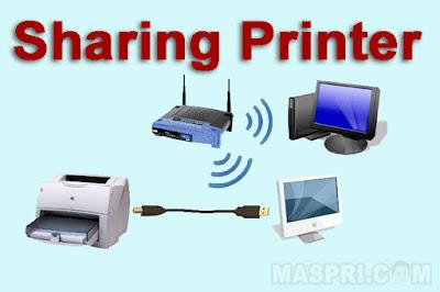 cara sharing printer windows 10