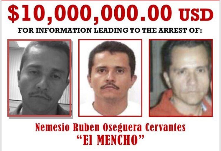 """La DEA no le quita el guante a """"El Mencho"""" del CJNG; Junto a """"El Mayo"""" del CDS, """"El Mencho"""" es de los más buscados por autoridades mexicanas y EU"""