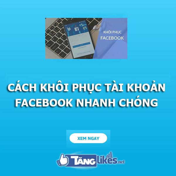khoi phuc tai khoan facebook
