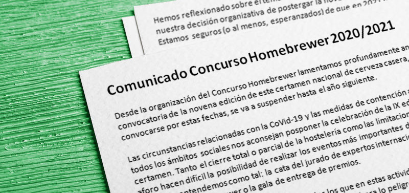 Comunicado: Concurso Homebrewer 2020/2021