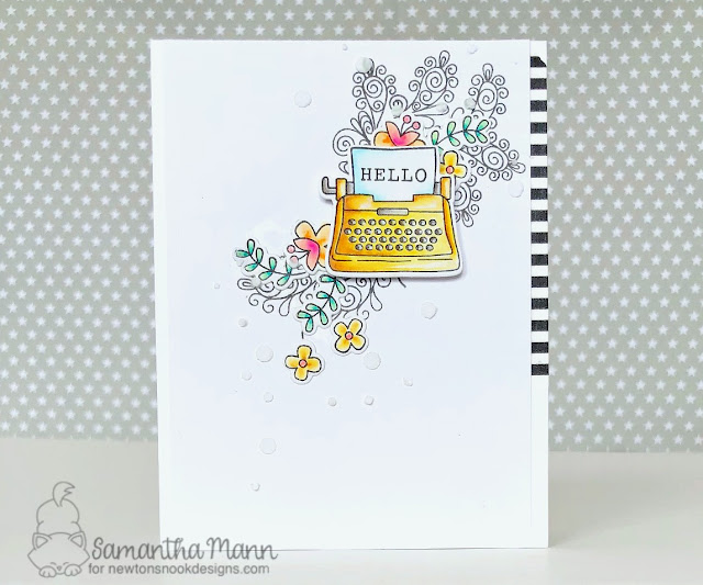 Just My Type Card by Samantha Mann, Newton's Nook Designs, handmade card, typewriter, just because