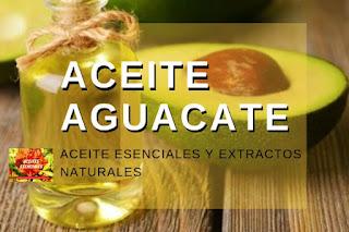 Aceite de aguacate, listado de aceites esenciales y esencias para Aromaterapia