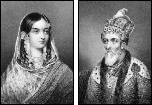 Zinat Mahal and Bahadur Shah Zafar