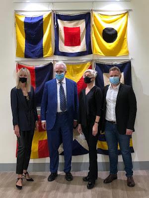 Valentinaki, Eugenio Giani, Lolita Timofeeva e Mattia Lapperier all'inaugurazione
