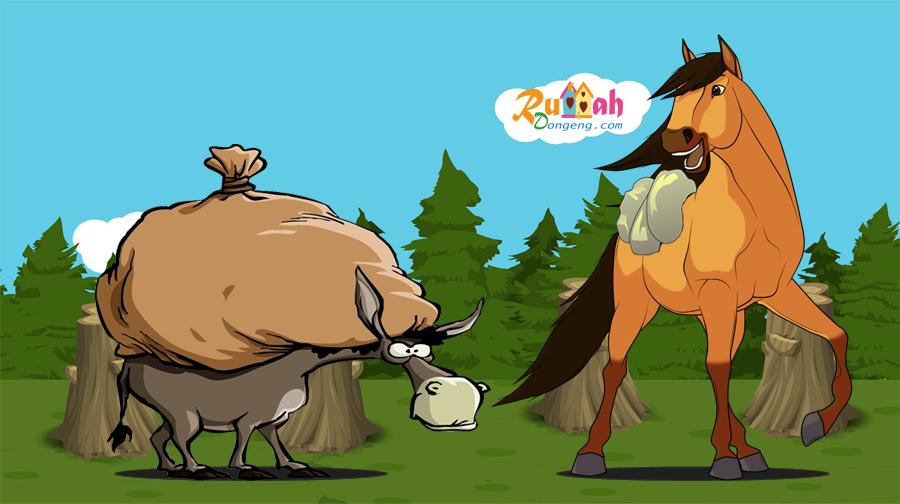 Kisah Kuda Dan Keledai Yang Sarat Dengan Beban