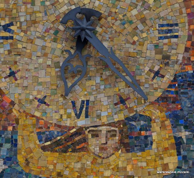 Jan Seweryn Sokołowski Warszawa Warsaw warszawskie mozaiki mozaika na Mariensztacie Zofia Czarnocka-Kowalska dekoracja ceramika lata 40