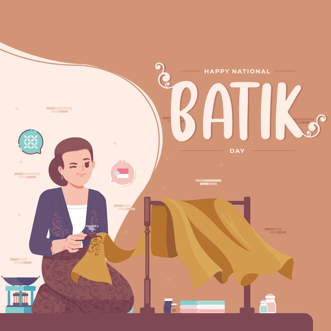 Poster Gambar Ucapan Selamat Hari Batik Nasional - 02 Oktober