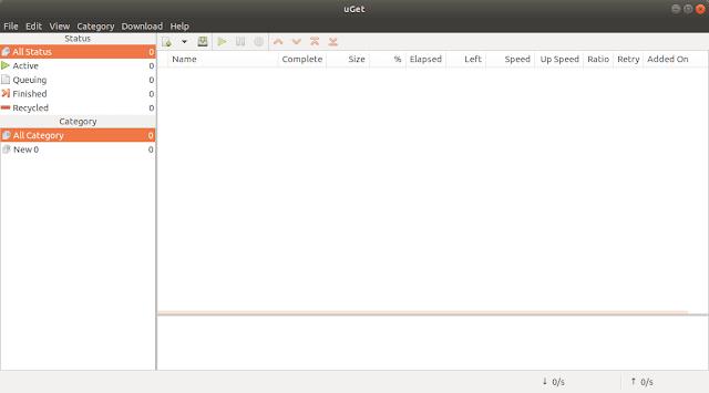 uGet Download Manager for Linux alternatif IDM