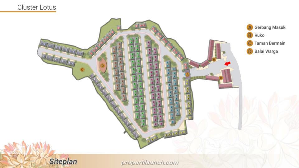 Site Plan Cluster Lotus