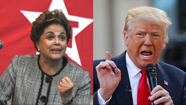 Rousseff: Política de Trump, 'una catástrofe' para América Latina