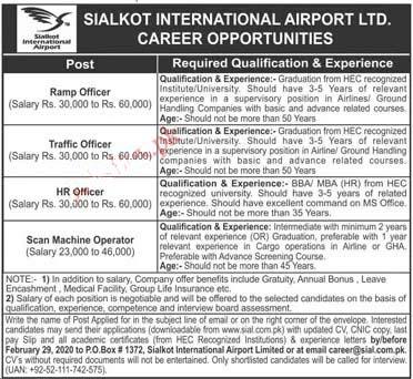 International Airport Ltd Jobs 2020