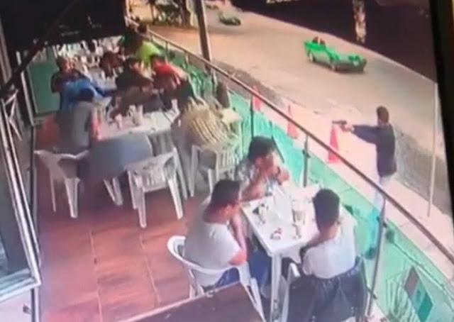 De certero balazo hombre armado asesina a comensal en Restaurante de Leon; Guanajuato