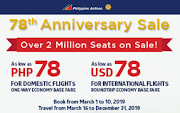 78php and 78usd Airfare Sale Philippine Airlines