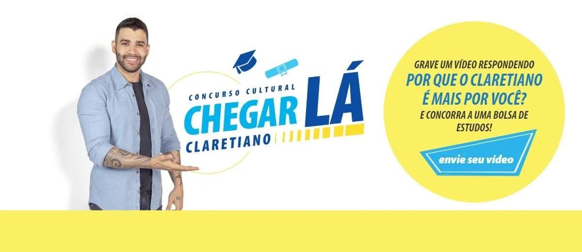 Cadastro Concurso Claretiano 2020 Chegar Lá Bolsa Estudos Grátis - Enviar Vídeo