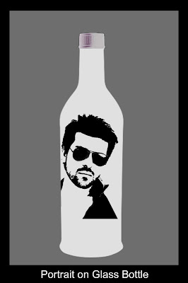 Glass Bottle Portrait Art Sketch Painting in Hyderabad Telangana INDIA