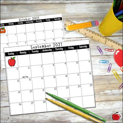 Free Academic calendar for 2021-2022 school year